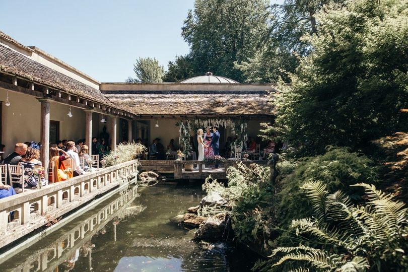 Ceremony in Cloistered Courtyard