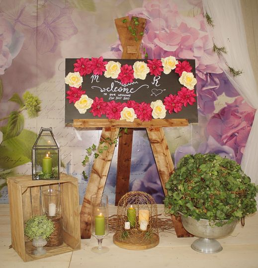 Rustic Welcome Display