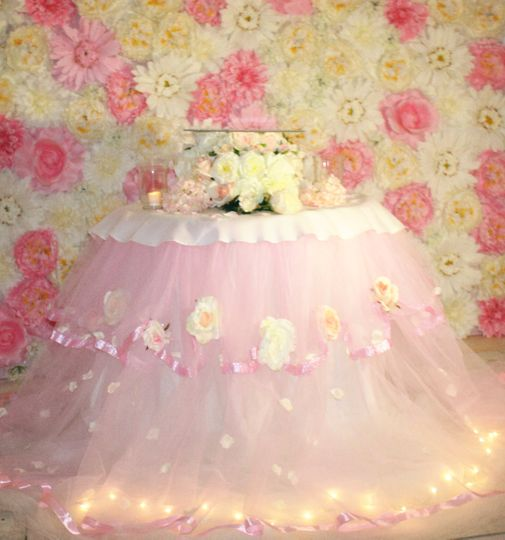 Pink Cake Display