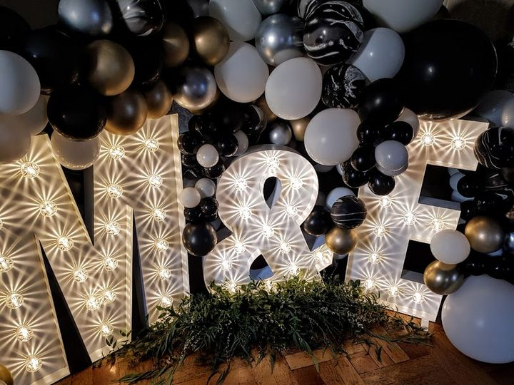 Light up Initials with Balloon