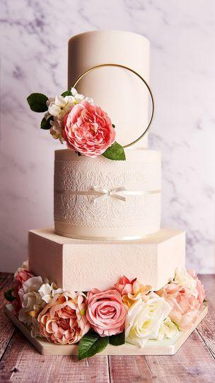 Gold ring cake