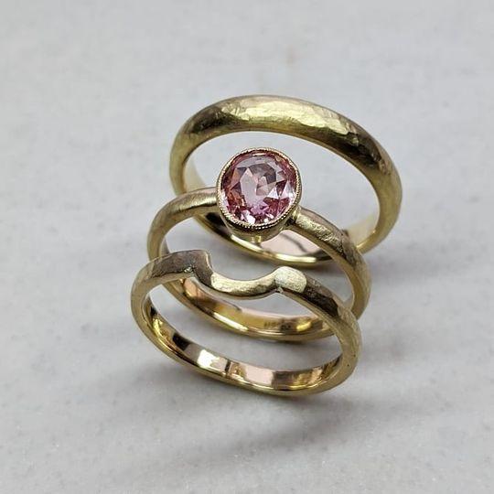 18ct Padparadscha sapphire