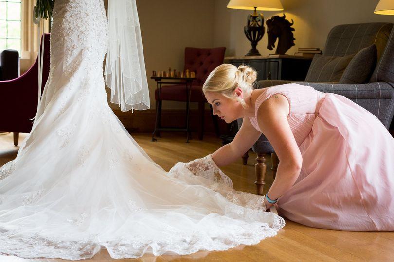 Arranging the dress