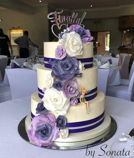 Light purple and blue