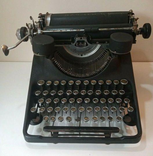 Victorian typewriter prop