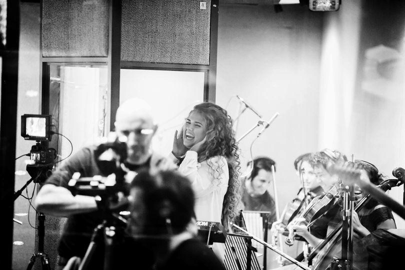 In studio recording