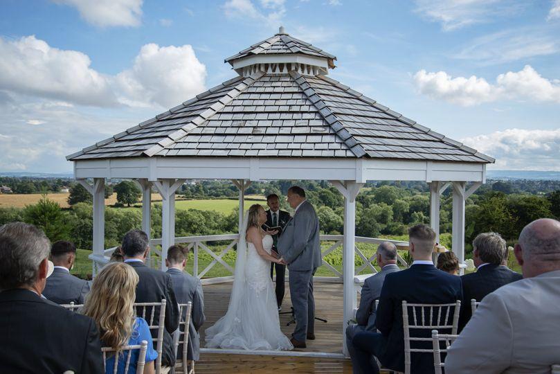 Hencote wedding ceremony