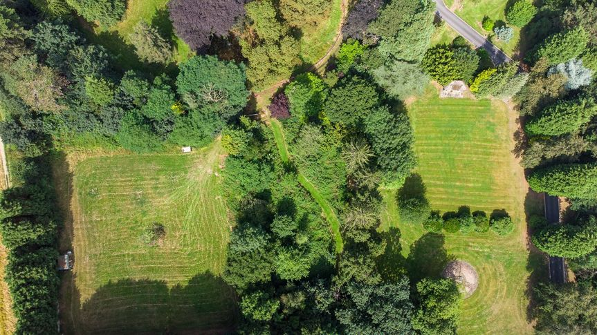 Aerial View of Grounds
