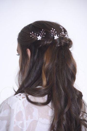 Wedding hair and hair pins