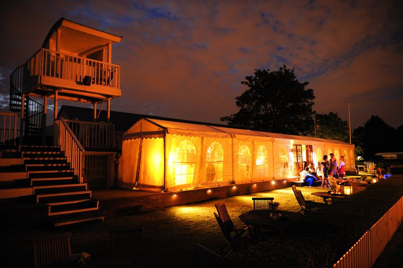 Nighttime Shot of the Clubhouse