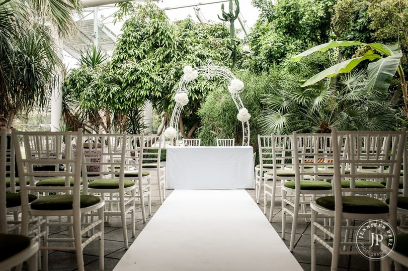 Our  botanical garden ceremony