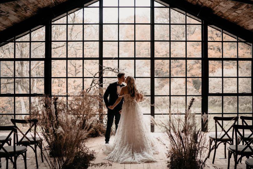 Ceremony Window in Barn
