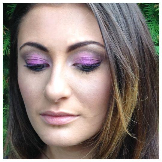 Violet contemporary bridesmaid