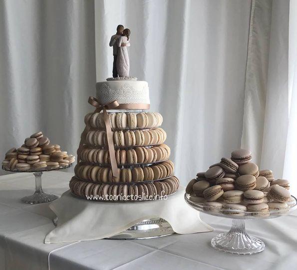 Too Nice Macaron Wedding Cake