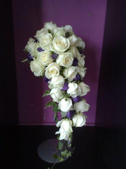 Semi crescent shaped bouquet