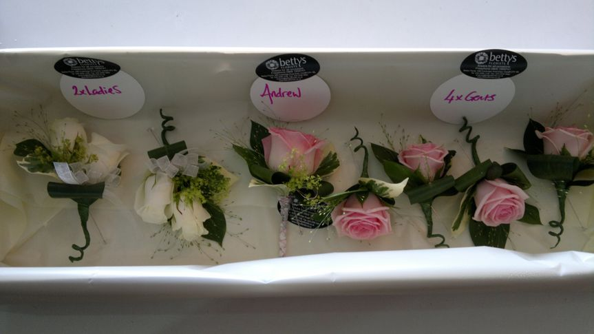 Buttonholes ready to go!