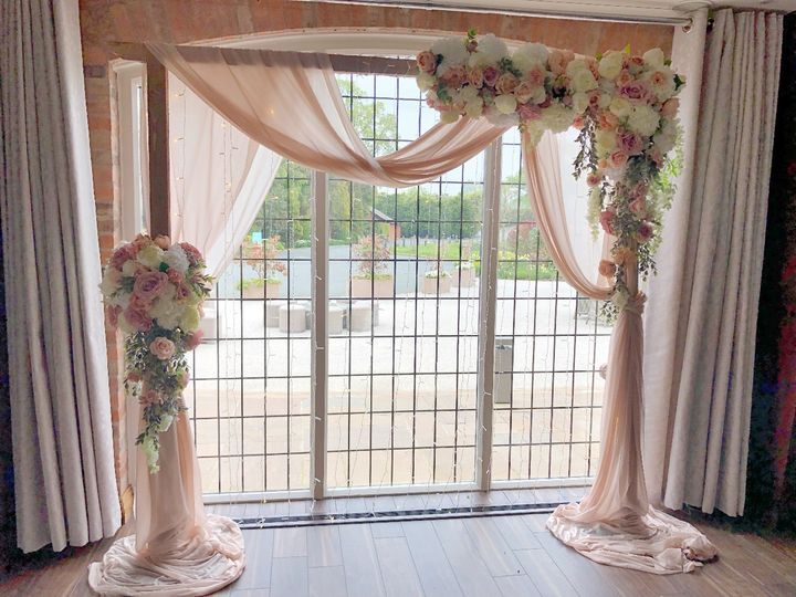 Wooden arch dressed
