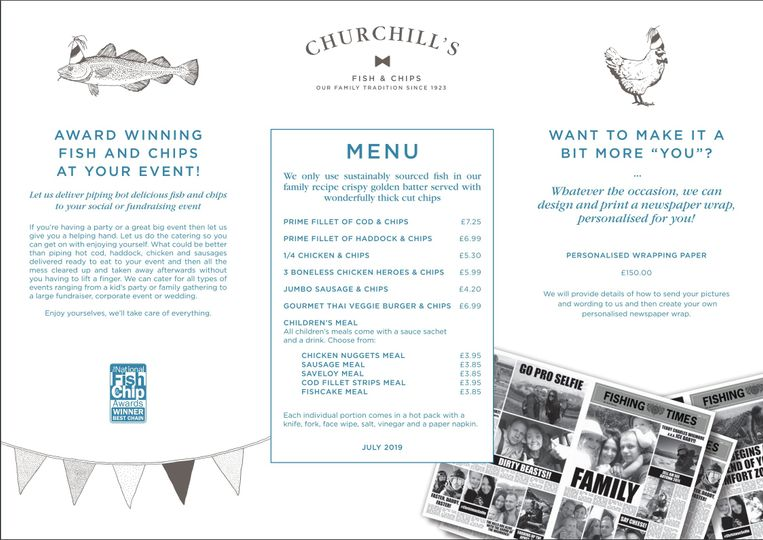 Catering Churchill's Fish and Chips 12