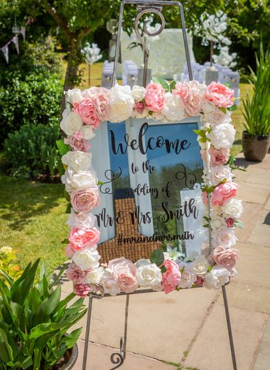 Range of welcome signs & table plans