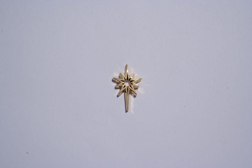 Gold star pin badge