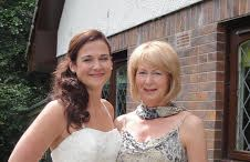 Bride and mum wedding make up