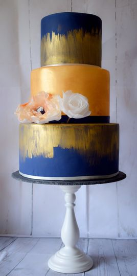 Blue and gold colours