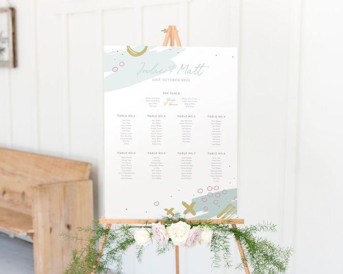 Abstract Wedding Table Plan