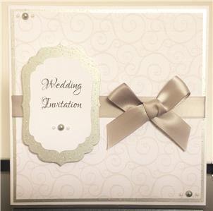 wedding invitation silver 4 39907