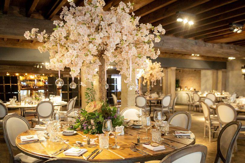 Pink oak table