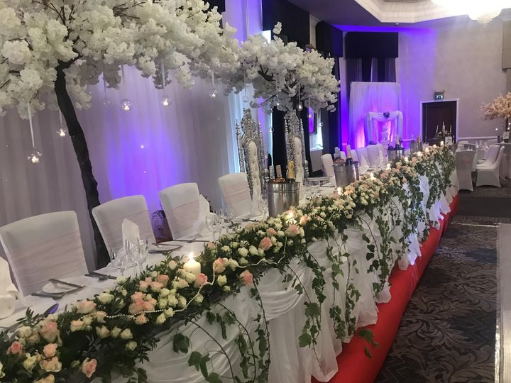 Top table blossom canopy