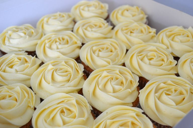 Our popular rose cupcakes