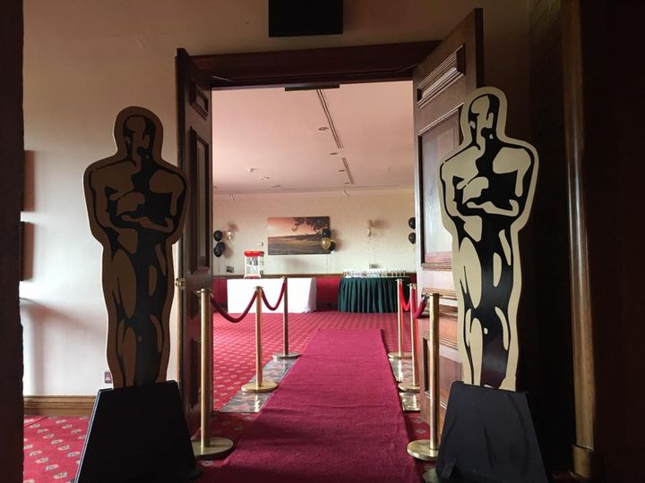 Oscars and red carpet entrance