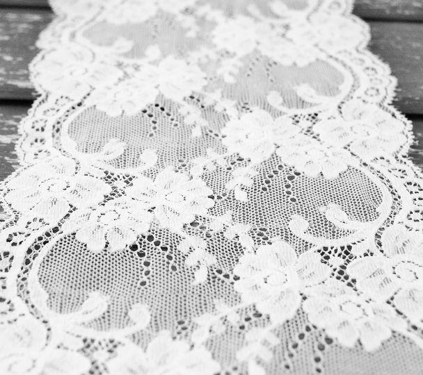 Wide white lace