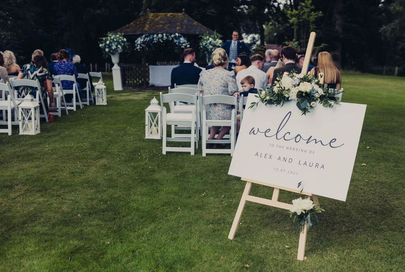 Rookery Hall Outdoor Ceremony