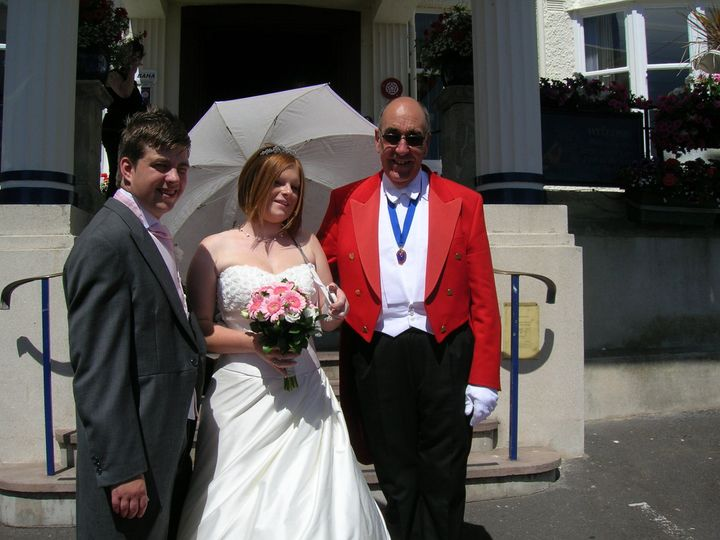 Hotel duty manager gets wed!