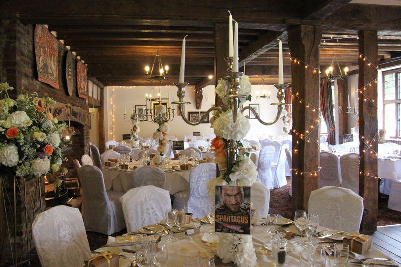 Roman Themed Wedding Reception