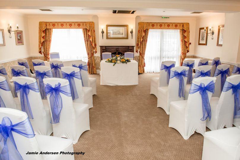 Ceremony room set up
