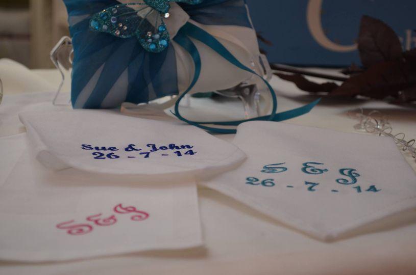 Gorgeous personalised napkins