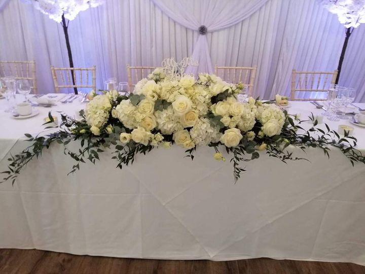 Floral Top table arrangement
