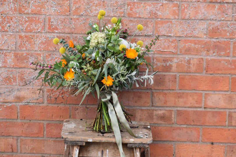 Wedding bouquet with orange