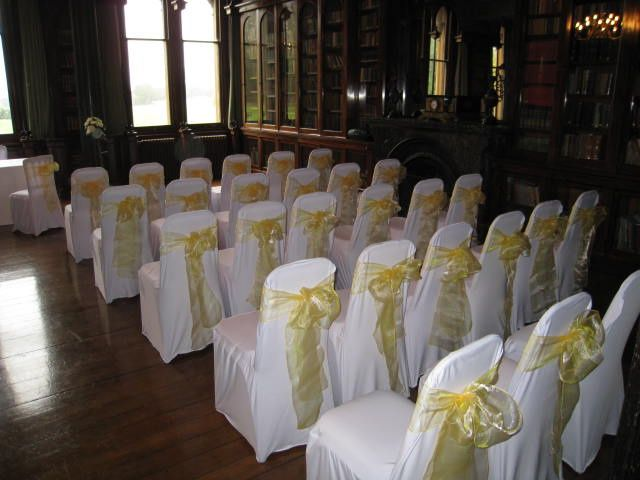 Chair covers for a civil ceremony