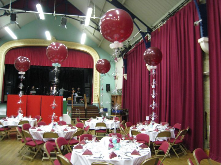 Large venue, large decorations.