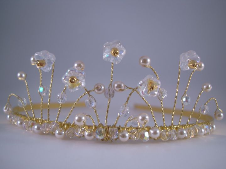 AB Clear Crystal & Pearl Bridal Tiara