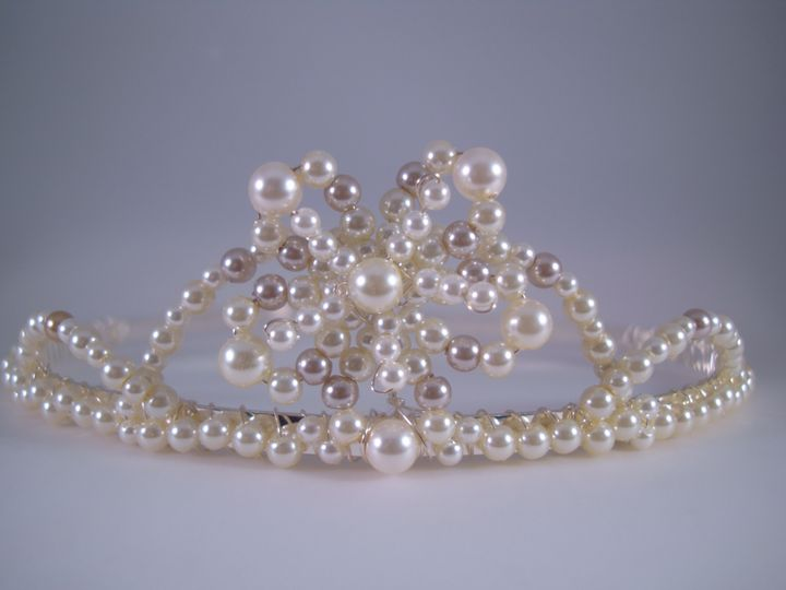 Ivory & Mushroom Pearl Bridal Tiara