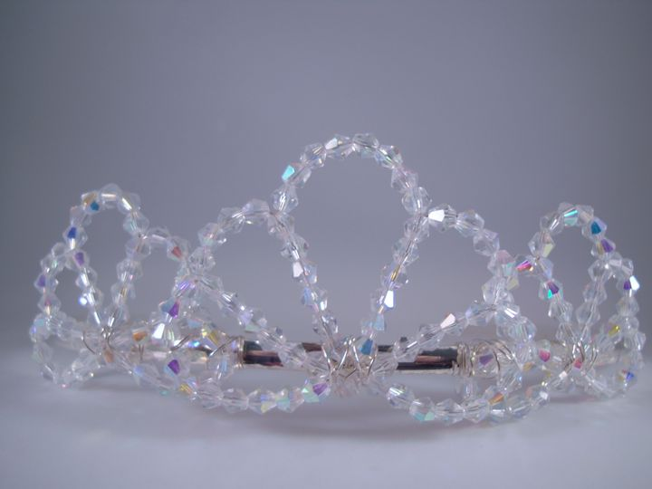 AB Clear Crystal Bridal Tiara