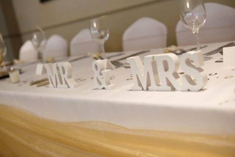 Top table embellishments