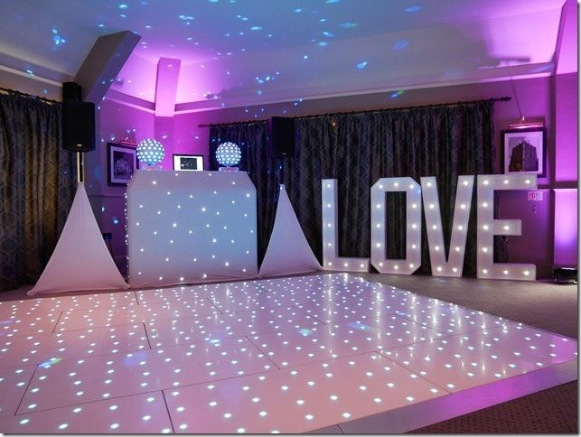 Dance floor and love letters