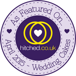 As featured on hitched.co.uk – April 2015 Wedding Cakes Issue
