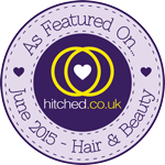 As featured on hitched.co.uk – June 2015 Hair & Beauty Issue