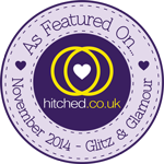 As featured on hitched.co.uk - November 2014 Glitz & Glamour Issue